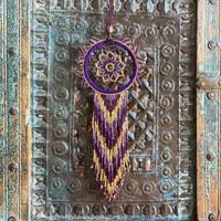 Dream Catcher, Mayan Designs, Purple and Gold Dream01