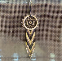 Dream Catcher, Mayan Designs, Black and Gold
