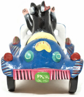 Lab Driving a blue car