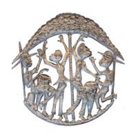 Rah Rah Band, Music, Musicians, Drummer, Dancing, Limited Edition, Handcrafted, Bongos, Caribbean, Island, Haiti, Haitian, Culture, Folk Art, Metal, Steel, Oil Barrels