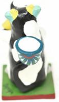 "Cow Candleholder, One of a Kind, Handmade in Mexico, Ortega Family, 4.5"" x 5.5"" x 3"" (Ortega 83)"