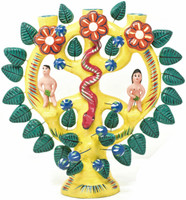 Tree of Life with Adam and Eve, Mexican Religious Folk Art