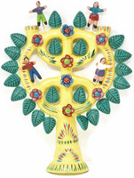 """Wall Hanging, Tree of Life filled with Children, by Mexican Folk Artist Gerardo Ortega Tree of Life, 14"""" x 11"""" x 2"""" (Ortega 98)"""