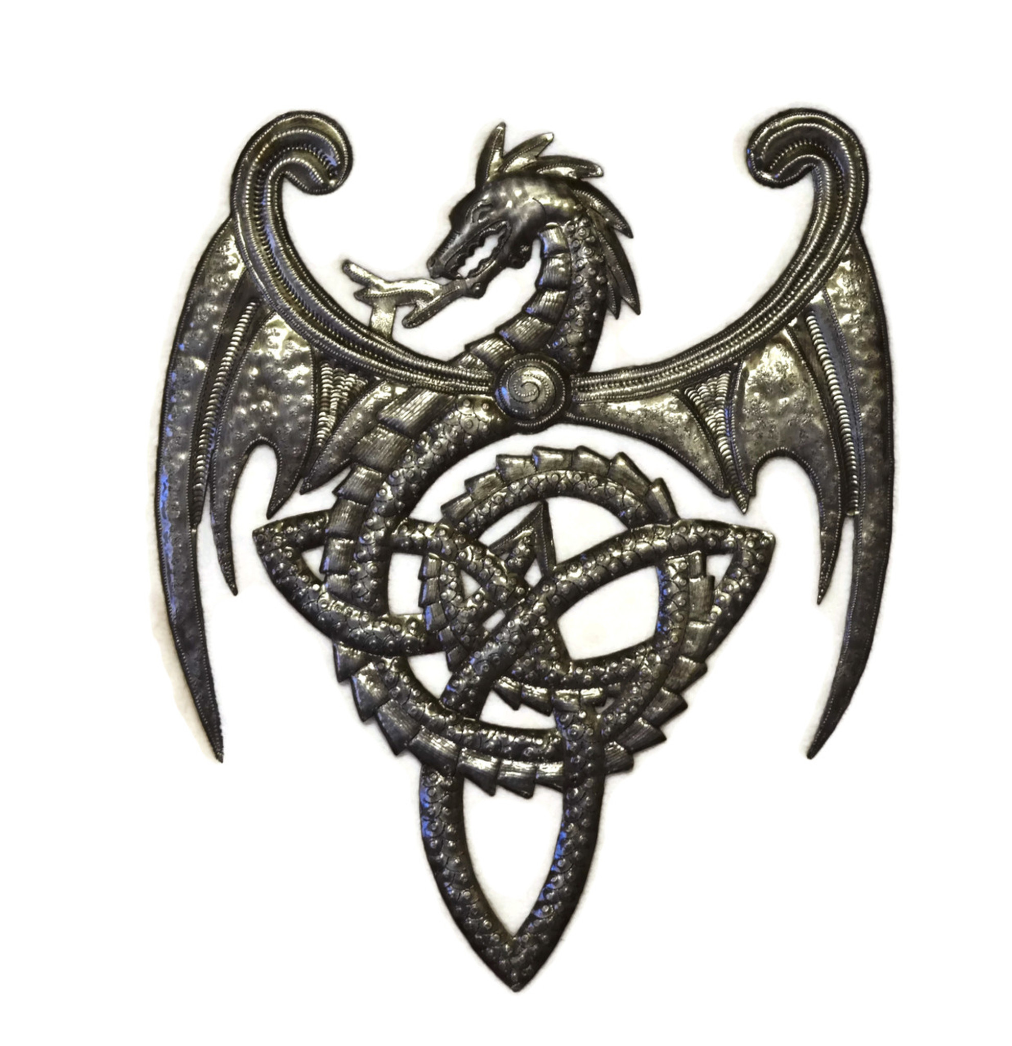 Metal Dragon Wall Artwork, Celtic Knot Symbol, Haitian Metal Art ...