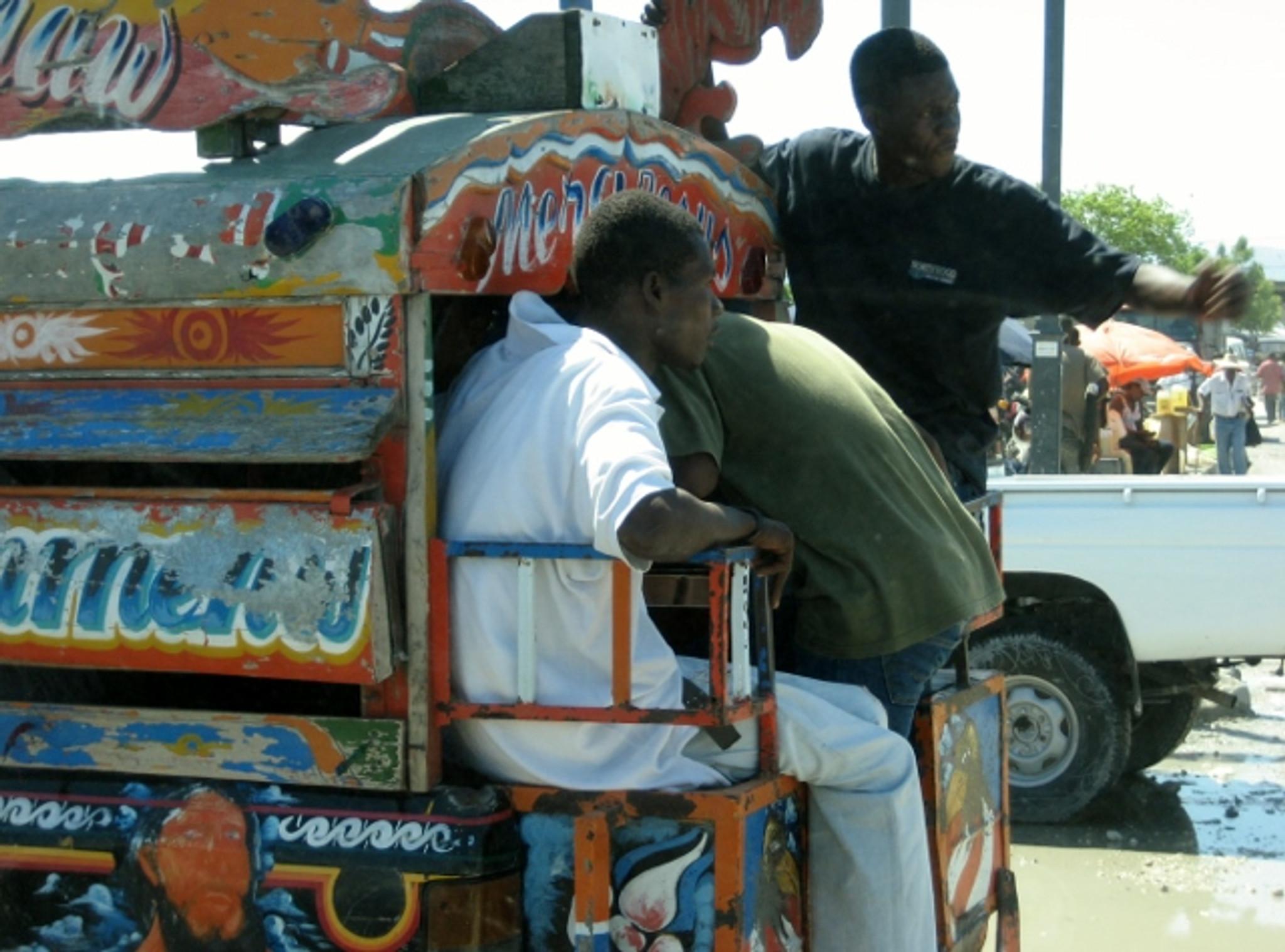 Tap Tap Bus Through Haiti