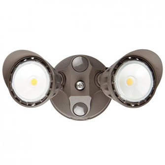 Sunset Lighting F30009-66 LED Security Light - Suitable for Wet Locations - Bronze Finish, 20W (137 F30009-66)