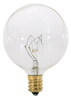 60W G16 1/2 CAND CLEAR 130V. (27 A3931)