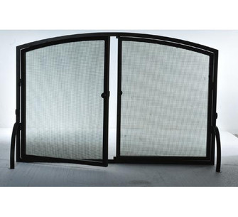 50''W X 33''H Prime Operable Door Arched Fireplace Screen (96|107526)