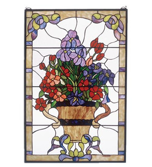 24''W X 36''H Floral Arrangement Stained Glass Window (96 51721)