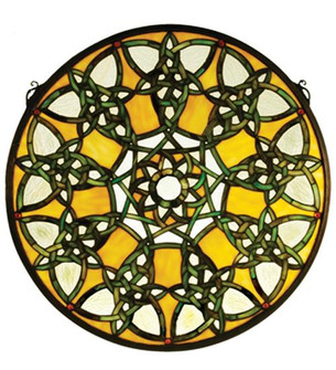 20''W X 20''H Knotwork Trance Medallion Stained Glass Window (96 51531)