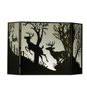 62''W X 40''H Deer on the Loose Fireplace Screen (96|50971)