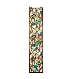 9''W X 42''H Tropical Fish Stained Glass Window (96 50840)