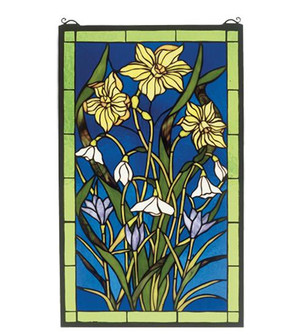 15''W X 25''H Spring Bouquet Stained Glass Window (96 38738)