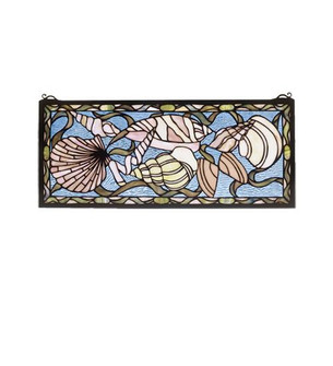 24''W X 10''H Seashell Stained Glass Window (96 36431)