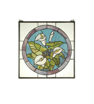 20''W X 20''H Calla Lily Stained Glass Window (96 23866)