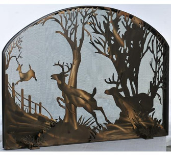 39.5''W X 30''H Deer on the Loose Arched Fireplace Screen (96|107759)