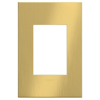 adorne® Brushed Satin Brass One-Gang-Plus Screwless Wall Plate (1452 AWC1G3BSB4)