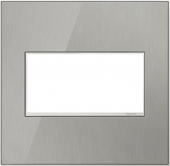 adorne® Brushed Stainless Two-Gang Screwless Wall Plate (1452 AWM2GMS4)
