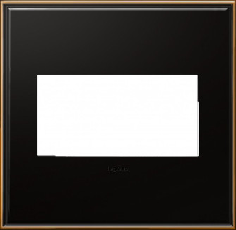 adorne® Oil-Rubbed Bronze Two-Gang Screwless Wall Plate (1452 AWC2GOB4)
