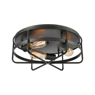 Wickshire 3-Light Flush Mount in Matte Black (91|46382/3)