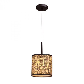 Medina 1-Light Mini Pendant in Aged Bronze with Amber Glass (91|31045/1)