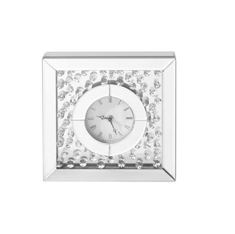 Sparkle 10 in. Contemporary Crystal Square Table clock in Clear (758 MR9116)