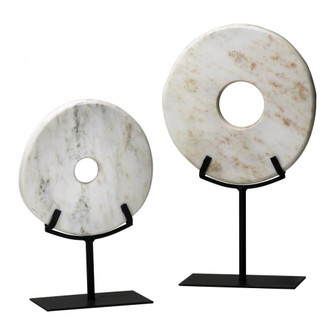 Lg. White Disk On Stand (179 02309)