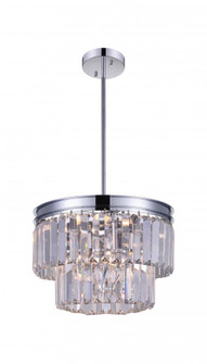 5 Light Down Mini Chandelier with Chrome finish (3691 9969P8-5-601)
