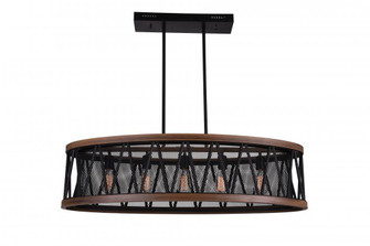 5 Light Island Chandelier with Pewter finish (3691|9954P43-5-101)