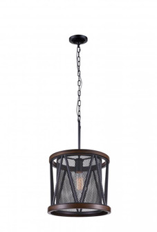1 Light Drum Shade Mini Chandelier with Pewter finish (3691 9954P13-1-101)