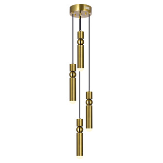 LED Pendant with Brass Finish (3691 1225P9-4-625)