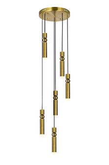 LED Pendant with Brass Finish (3691 1225P16-6-625)