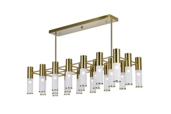 21 Light Island/Pool Table Chandelier with Brass Finish (3691|1221P38-21-625)
