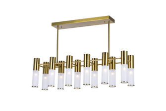12 Light Island/Pool Table Chandelier with Brass Finish (3691|1221P32-12-625)