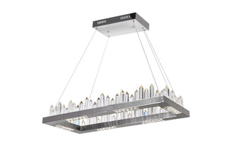 LED Island/Pool Table Chandelier with Polished Nickel Finish (3691|1218P32-613-RC)