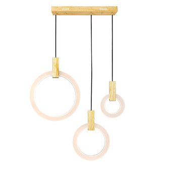 LED Island/Pool Table Chandelier with White Oak Finish (3691|1214P30-3-236-RC)