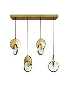 LED Island/Pool Table Chandelier with Brushed Brass Finish (3691|1206P35-4-629)