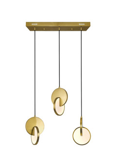 LED Island/Pool Table Chandelier with Brushed Brass Finish (3691|1206P24-3-629)