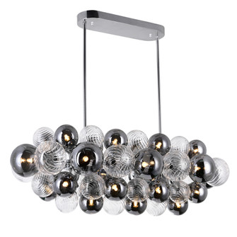 27 Light Island/Pool Table Chandelier with Chrome Finish (3691|1205P39-27-601)