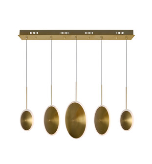 LED Island/Pool Table Chandelier with Brass Finish (3691|1204P43-5-625)