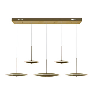 LED Island/Pool Table Chandelier with Brass Finish (3691|1204P43-5-625-A)
