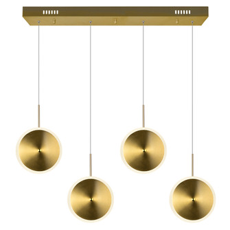 LED Island/Pool Table Chandelier with Brass Finish (3691|1204P30-4-625)