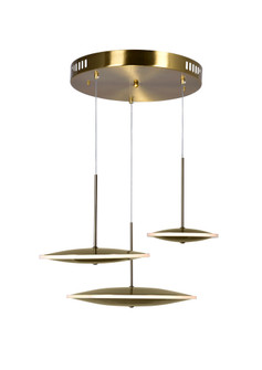 LED Pendant with Brass Finish (3691 1204P22-3-625-A)