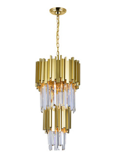 4 Light Down Mini Chandelier with Medallion Gold Finish (3691 1112P12-4-169)