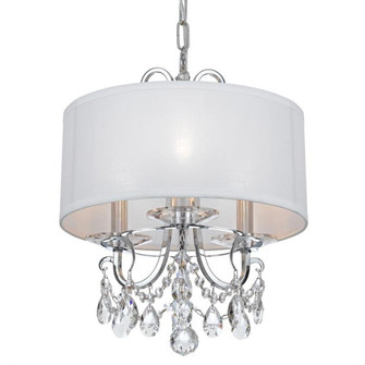 Othello 3 Light Clear Crystal Polished Chrome Mini Chandelier (205 6623-CH-CL-MWP)