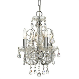 Imperial 4 Light Clear Crystal Chrome Mini Chandelier (205 3224-CH-CL-I)