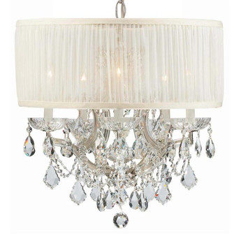 Brentwood 6 Light Crystal Chrome Drum Shade Mini Chandelier (205 4415-CH-SAW-CLM)