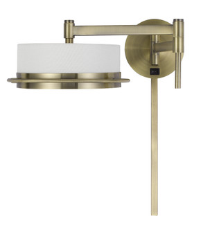 LED 10W Sarnen Wall Swing Arm Reading Lamp. 3 Ft Wire Cover included (162 WL-2929-AB)