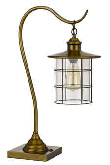 Silverton Desk Lamp With Glass Shade (Edison Bulb included) (162|BO-2668DK-BAB)