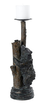 BEAR WITH TREE CANDLE HOLDER (162|TA-507LC)